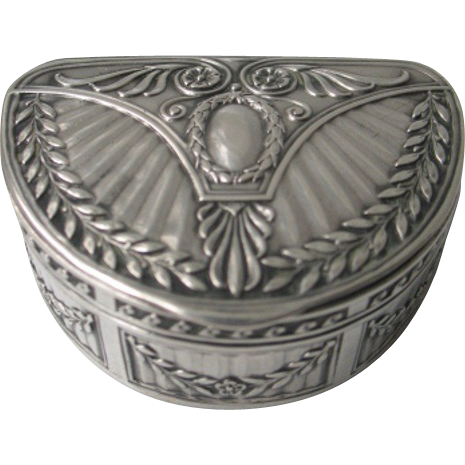 Antique Art Nouveau Silver 800 Box signed Patriz Huber