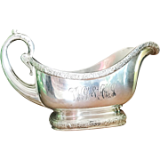 Antique Tiffany and Co Silver Plated Gravy Boat
