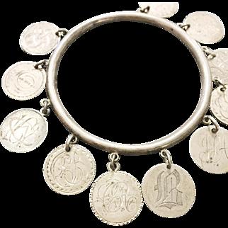 Antique 1857-1884 Love Token Bangle Bracelet