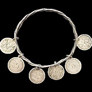 Antique 1853-1889 Love Token Bangle Bracelet