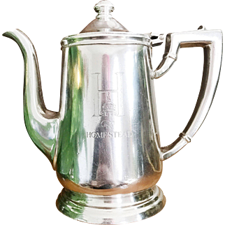Vintage Silver Plate Tea Pot from The Homestead Virginia Hot Springs