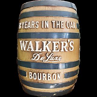 Vintage Walker's Bourbon Barrel Bank