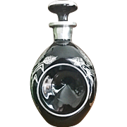 Vintage 1920s Sterling Silver and Glass Decanter