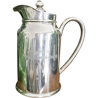 Vintage 1941 Silver Plate Insulated Water Pot from The Muehlebach Hotel in Kansas City MO