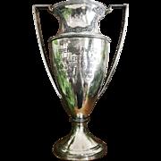 Large Vintage 1923 Silver Plated California Orange Show Trophy