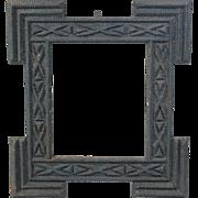 Antique Tramp Art Mirror