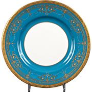 10 Teal Minton Neoclassical Plates