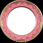 10 Minton Pink Medallion Plates