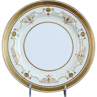 12 Minton Gold Encrusted Dinner, Service or Cabinet Plates