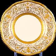 12 Antique Coalport Gold Encrusted Plates