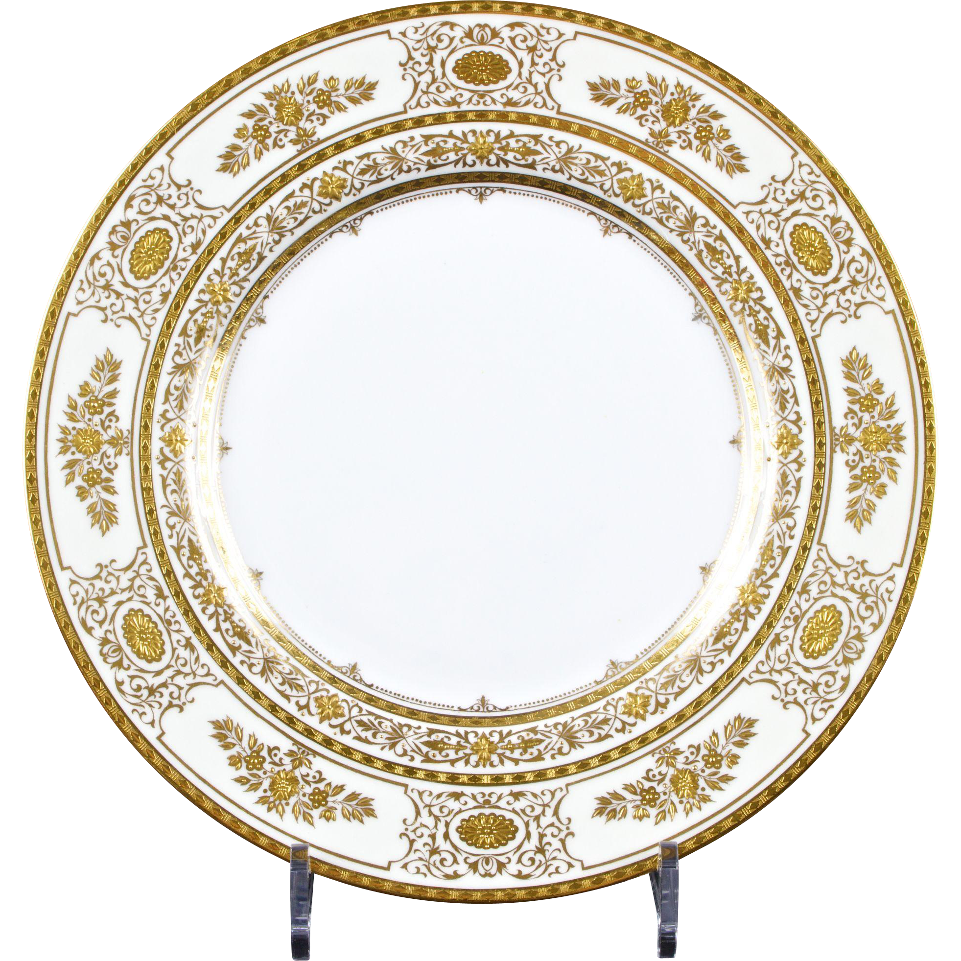 12 Minton Argyle Gold Dinner Plates Larger Service Available  Gilded Age Dining | Ruby Lane  sc 1 st  Ruby Lane & 12 Minton Argyle Gold Dinner Plates Larger Service Available ...