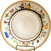 Le Tallec for Tiffany: Single Cirque Chinois Hand-Painted Plate, lunch or dinner, 3 available