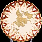 9 Antique Copeland Spode Hand-Painted Dessert Plates