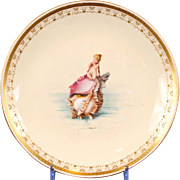 Antique Minton 'Boys on Seashells' Cabinet Plate, by Antonin Boullemier