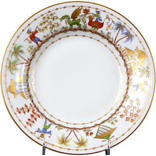12 Le Tallec for Tiffany: Cirque Chinois Hand-Painted Soup Plates