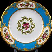 13 Copeland hand-Painted Celeste Bleu Sevres-Style Plates