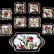 Antique Doulton Burslem Hand-Painted Dessert Set