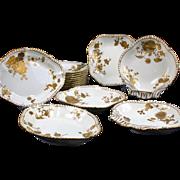 Antique Derby Gilded Service: 18 Pieces