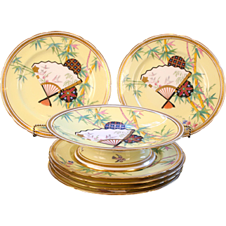 Antique Minton Aesthetic Movement Dessert Service