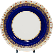 13 Antique Minton Cobalt and Rust Dinner or Service Plates