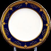 12  Minton For Tiffany Cobalt Medallion Plates
