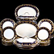 Antique Minton Gilded Cobalt  Service