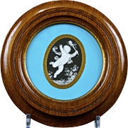 Antique Minton Pâte-sur-Pâte Porcelain Plaque by Thomas Mellor