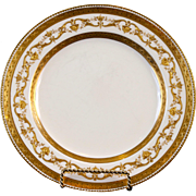 10 Minton Gilded Service or Dinner Plates, England