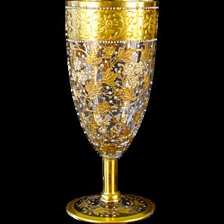 Moser Art Glass Goblet