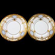 Vintage Pair Of Minton Pate-sur-Pate Trophy Plates