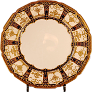12 Royal Doulton Dinner Plates, Very Thick Gold Design