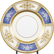 Single Minton Pate-sur-Pate Plate, by artist Robert Marshall