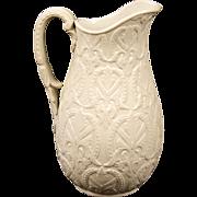 Small Antique English Salt -Glazed Pitcher