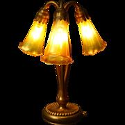 Tiffany Favrile 3-Light Lily Lamp