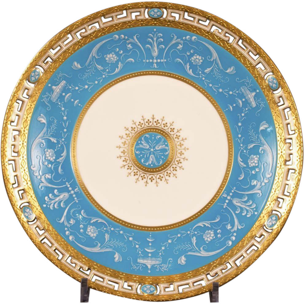 13 Antique Minton Pate-sur-Pate Bleu Celeste Plates  Gilded Age Dining | Ruby Lane  sc 1 st  Ruby Lane : antique plates - pezcame.com