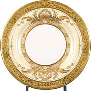 10 Gold Encrusted Royal Worcester Small Plates