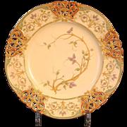 15 Antique Royal Worcester Reticulated Botanical Cabinet or Dessert Plates