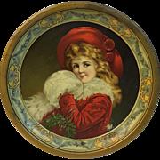 C.D. Kenny Co. Tin Litho Christmas Plate