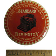 Advertising Mirror-Remington Typewriter