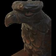 Hand Carved Folk Art Patriotic Eagle Bookends