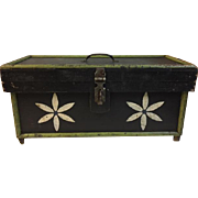 Funny Pennsylvania Folk Art Decorated Tool Box