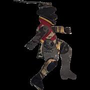 Folk Art Dancing Tin Black Man