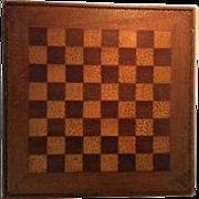 Handmade Folk Art Checkerboard/Game Board