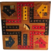 Folk Art Game Board with Dogs