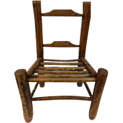 Folk Art Rhododendron Branch Childs Chair