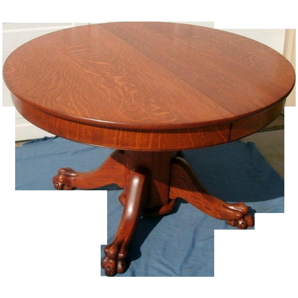 antique tiger oak dining table
