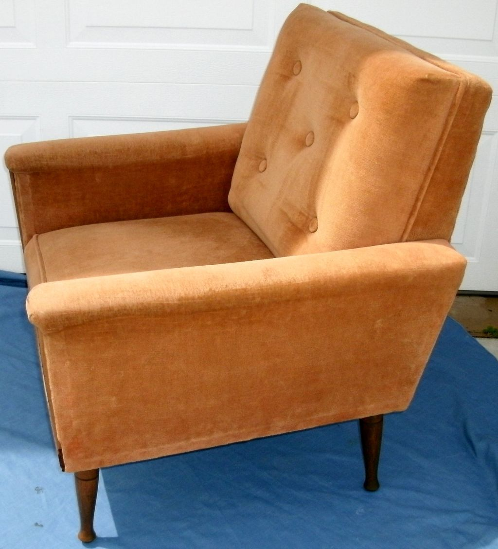 vintage midcentury modern danish modern upholstered arm chair w  - roll over large image to magnify click large image to zoom