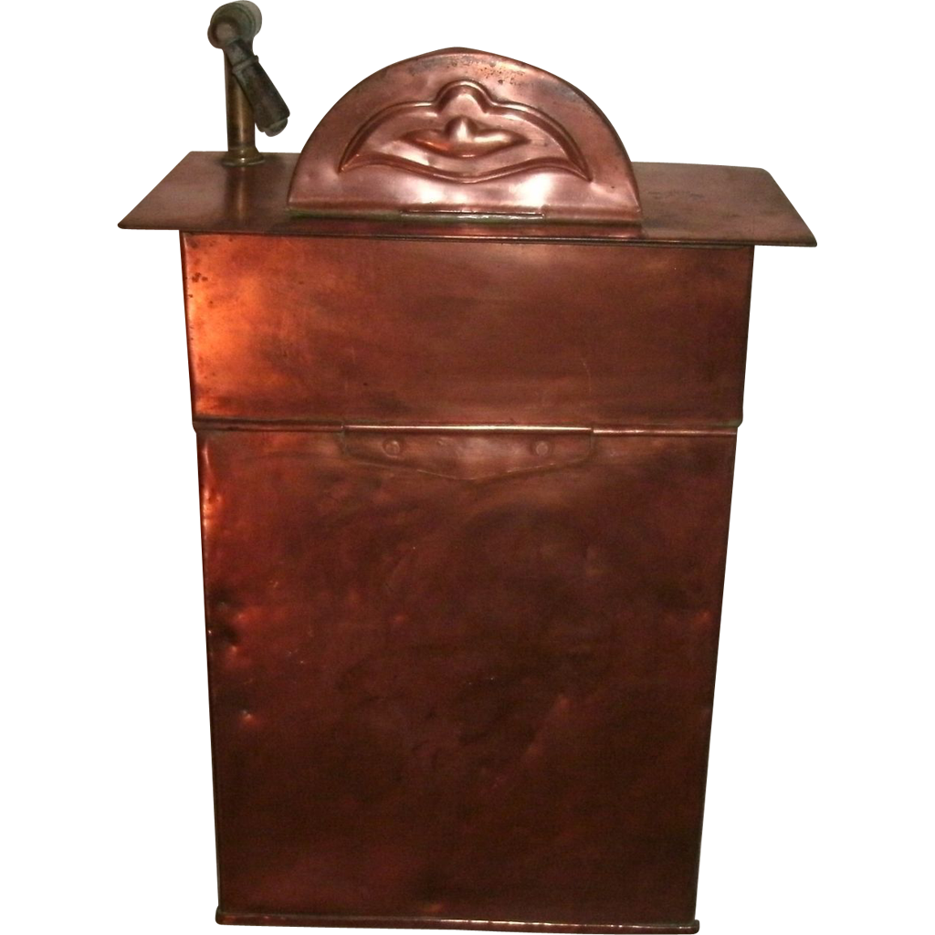 19th century antique solid copper water tank dispenser for Copper water tank