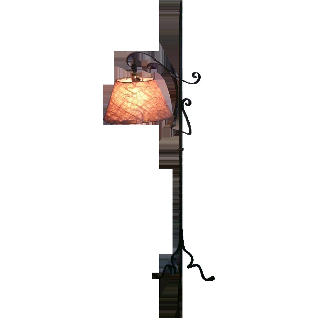 Vintage wrought iron gothic arts crafts bridge floor lamp with vintage wrought iron gothic arts crafts bridge floor lamp with sold ruby lane aloadofball Images