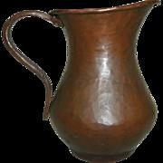 Vintage Arts & Crafts (Mission) Era Hand Hammered Copper Pitcher / Creamer